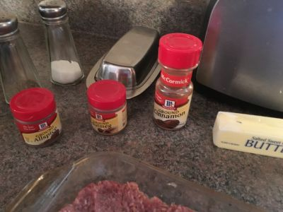 Spices used to make Kibbi