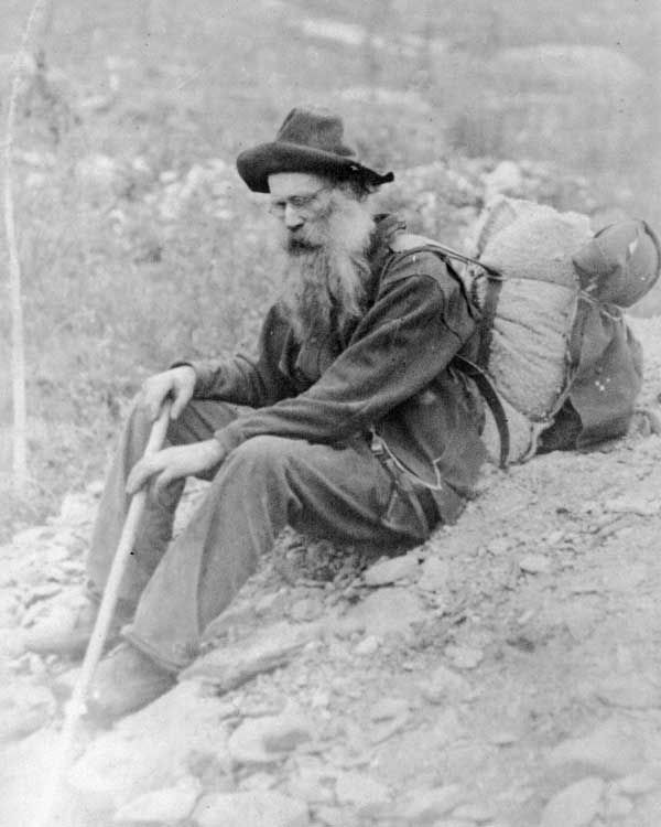Here we have a tired old prospector during the Klondike Gold Rush.