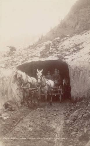 Snow Tunnel - On the Ouray and Silverton Toll Rd - Colorado - 1888