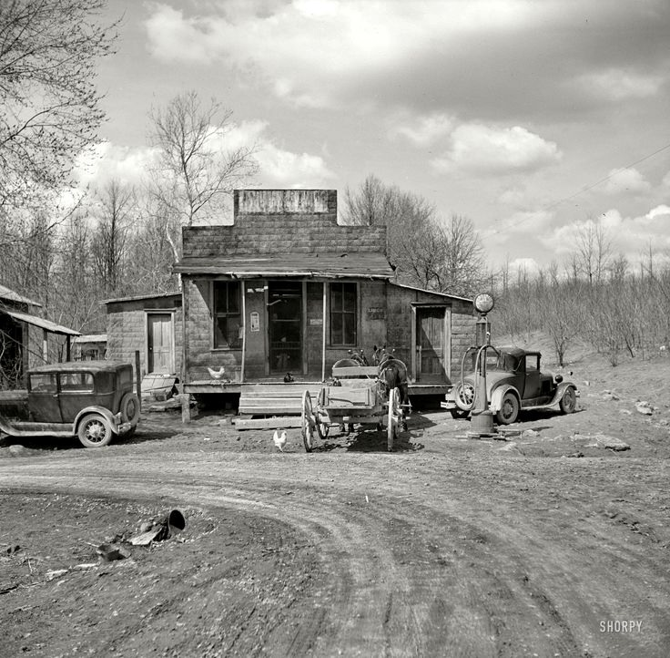"Thankfully someone took the time to photograph this type of beauty - April 1937. ""Buttermilk Junction, Martin County, Indiana."""