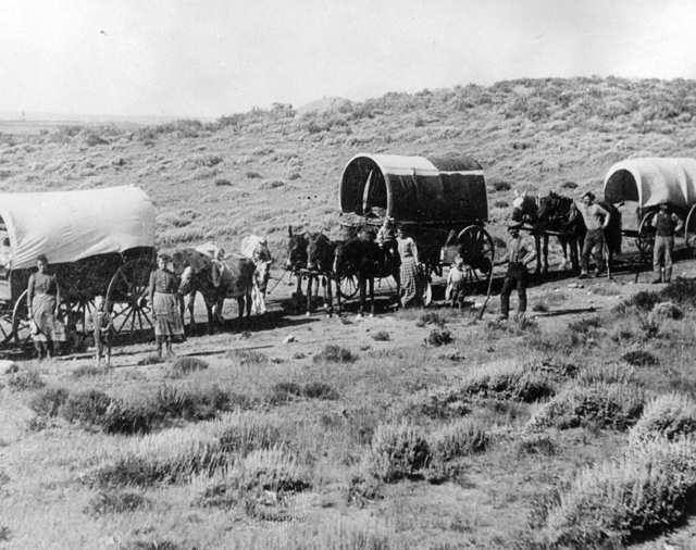 Some of the toughest, bravest people we know of. They gave it their all to go west and start a new life. This wagon train is in eastern Colorado in 1880.